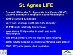 st agnes life
