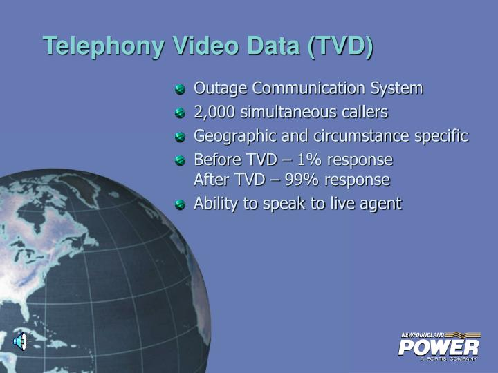 Telephony Video Data (TVD)