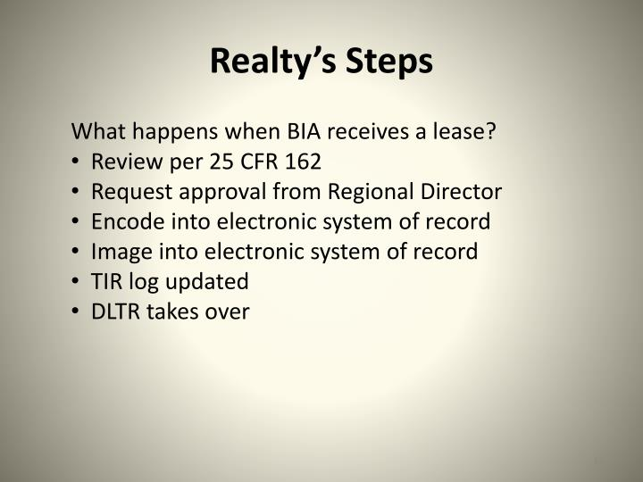 Realty's Steps