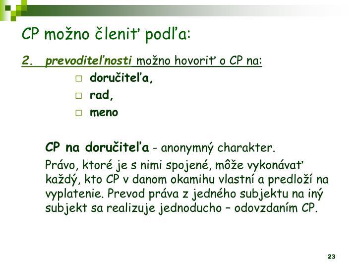 CP mono leni poda: