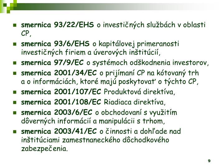 smernica 93/22/EHS