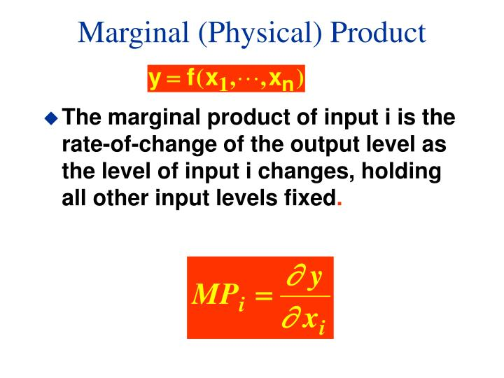 Marginal (Physical) Product