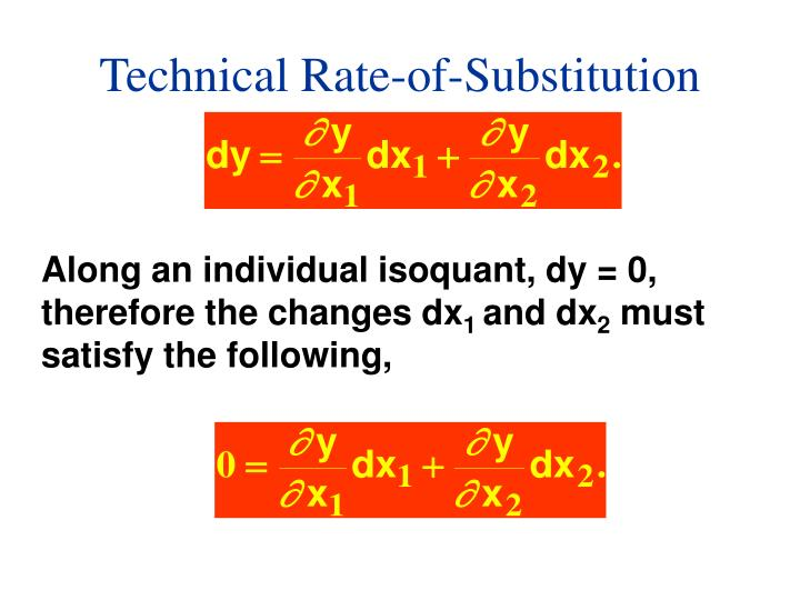Technical Rate-of-Substitution