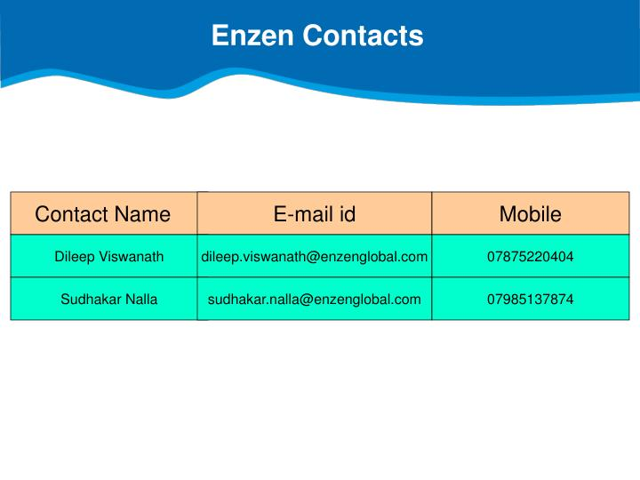 Enzen Contacts