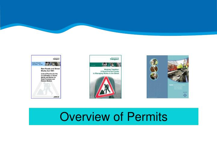 Overview of Permits