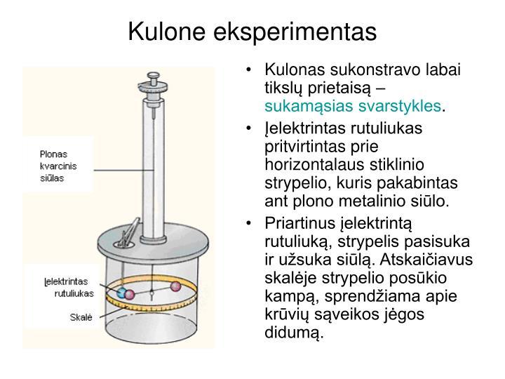 Kulone eksperimentas