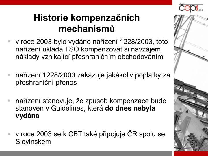 Historie kompenzačních mechanismů