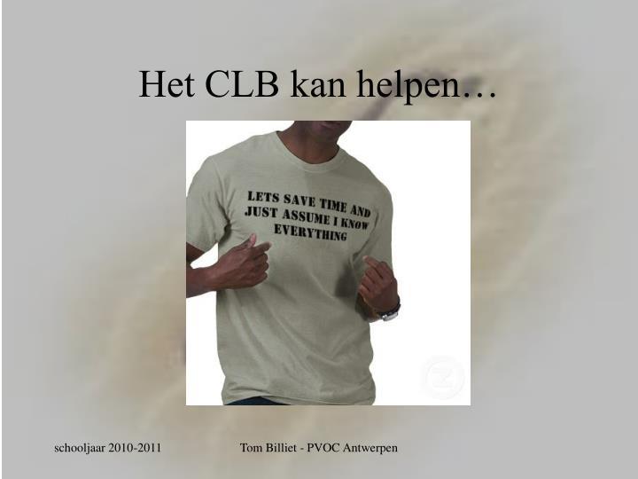 Het CLB kan helpen…