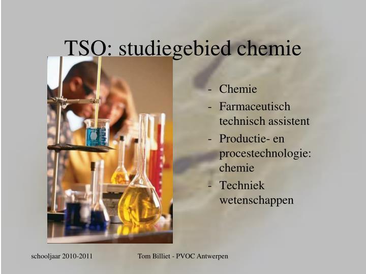 TSO: studiegebied chemie