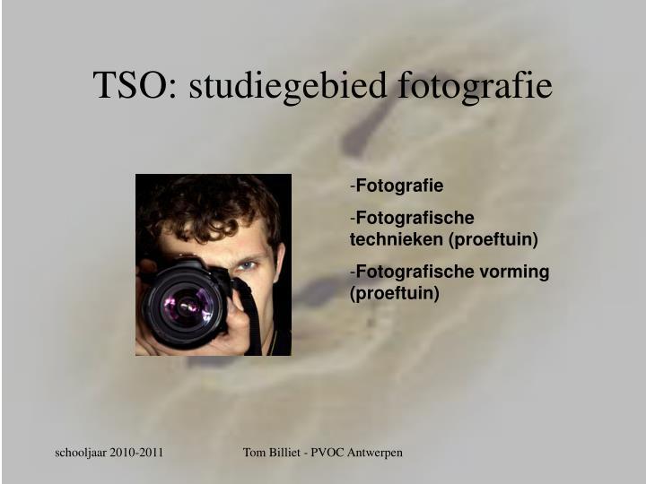 TSO: studiegebied fotografie