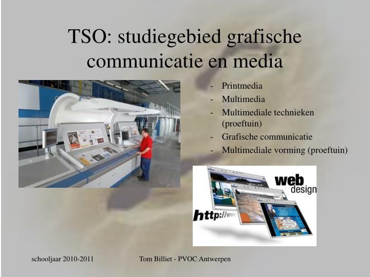 TSO: studiegebied grafische communicatie en media