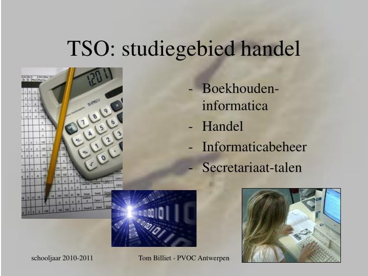 TSO: studiegebied handel