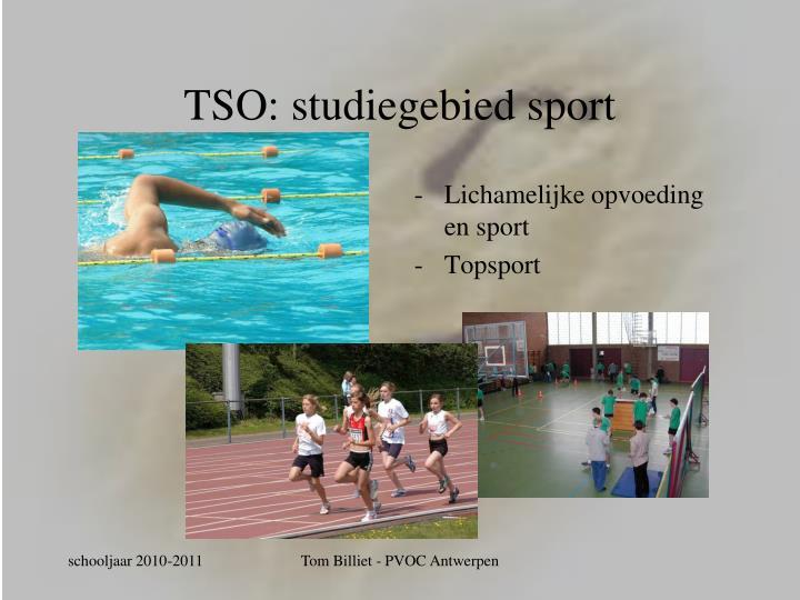 TSO: studiegebied sport