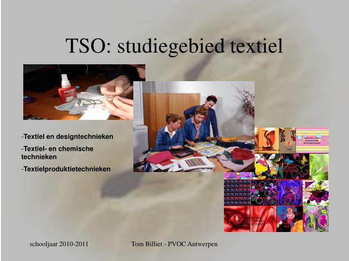 TSO: studiegebied textiel