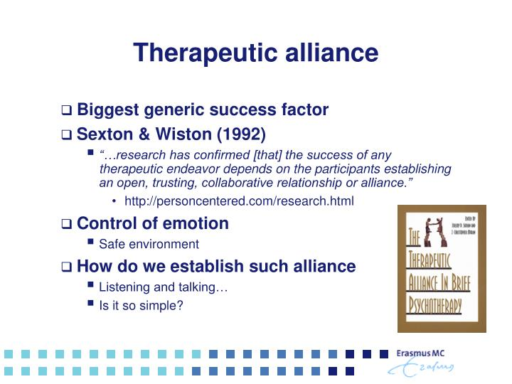 Therapeutic alliance