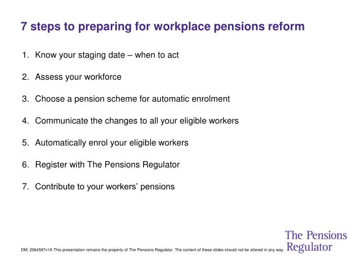 7 steps to preparing for workplace pensions reform
