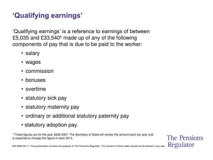 'Qualifying earnings'