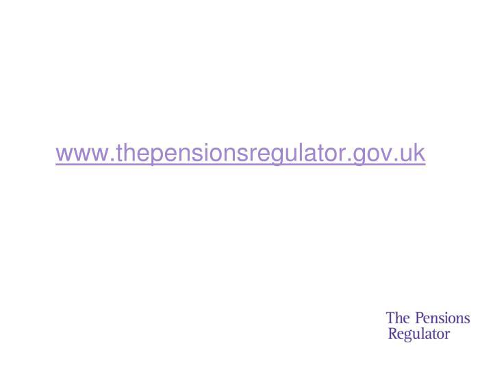 www.thepensionsregulator.gov.uk