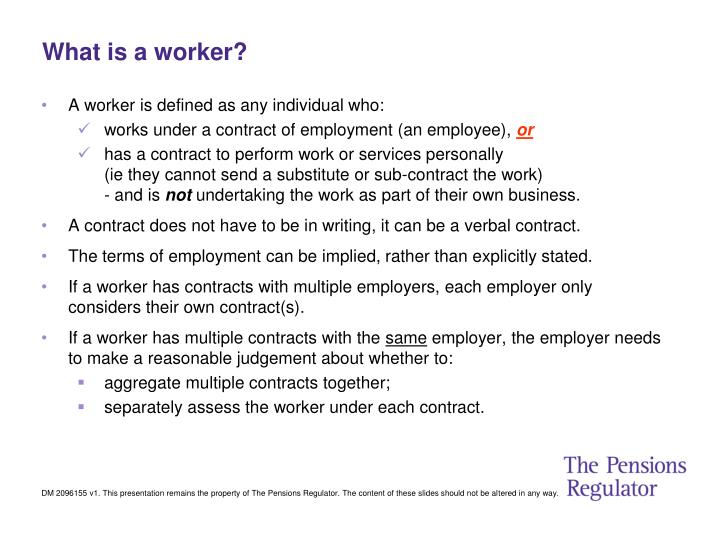 What is a worker?