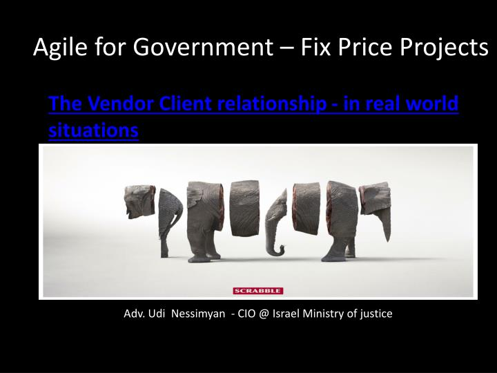 Agile for government fix price projects