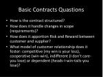 basic contracts quastions