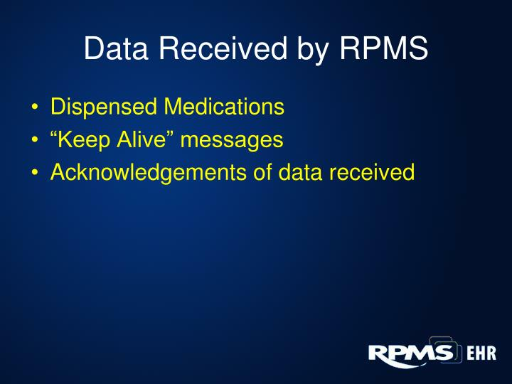 Data Received by RPMS