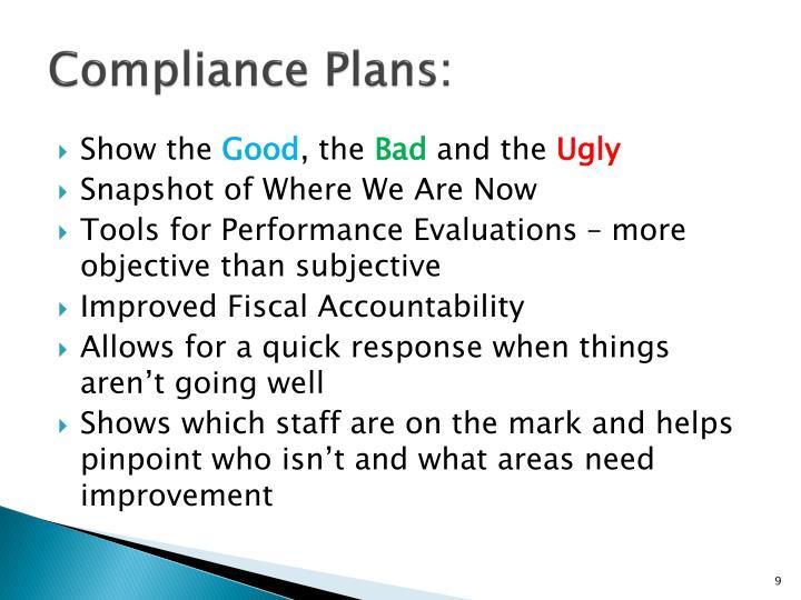 Compliance Plans:
