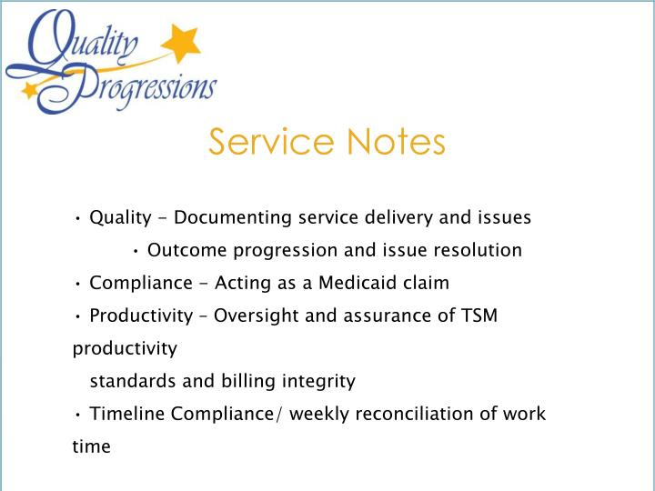 Service Notes