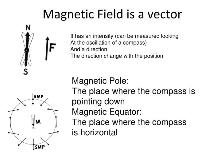 Magnetic field is a vector