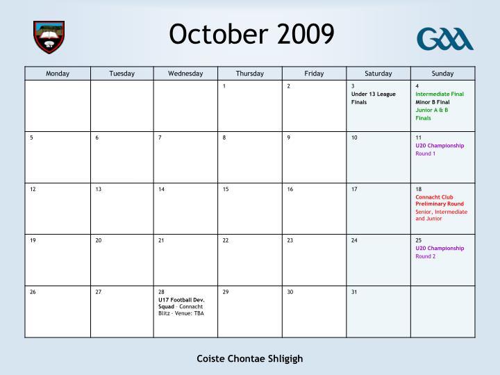 October 2009