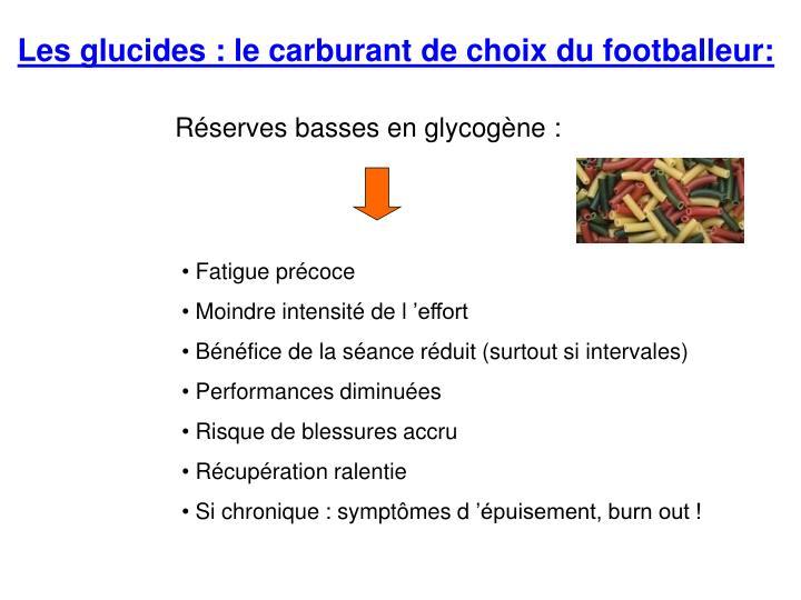 Les glucides : le carburant de choix du footballeur: