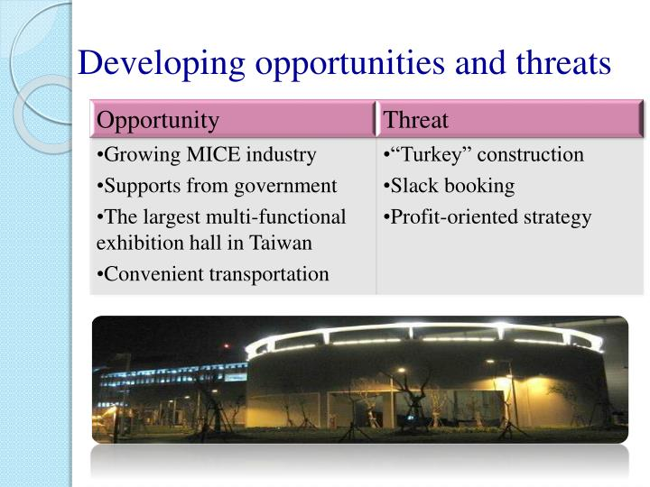 Developing opportunities and threats