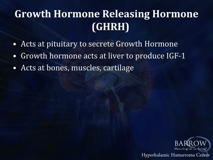 Growth Hormone Releasing Hormone (GHRH)
