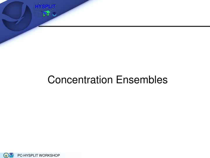 Concentration Ensembles