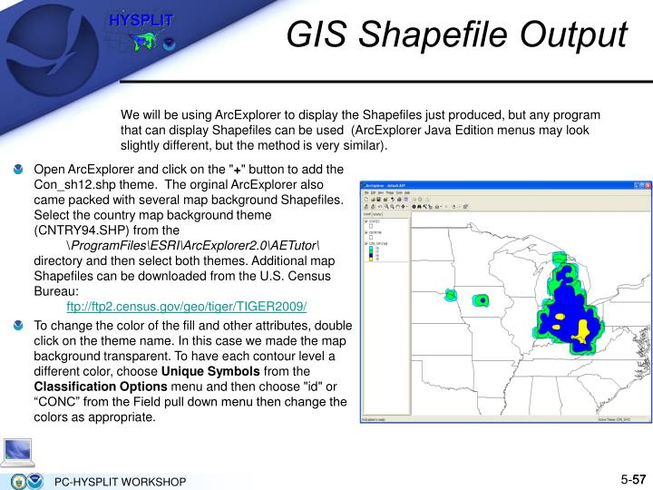 GIS Shapefile Output