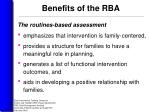 benefits of the rba