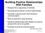 building positive relationships with families