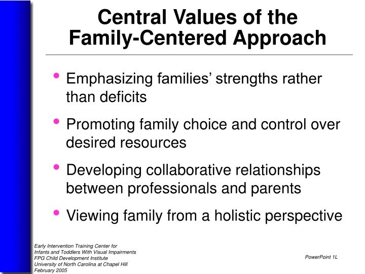 Emphasizing families' strengths rather than deficits