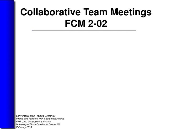 Collaborative Team Meetings