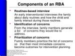 components of an rba