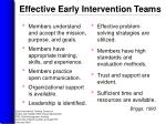 effective early intervention teams