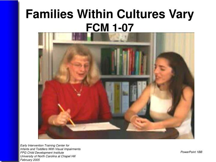 Families Within Cultures Vary