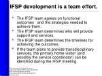 ifsp development is a team effort