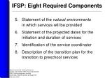 ifsp eight required components1