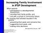 increasing family involvement in ifsp development