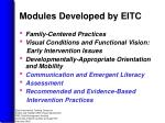 modules developed by eitc
