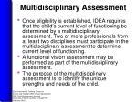 multidisciplinary assessment