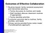 outcomes of effective collaboration