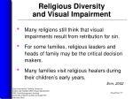 religious diversity and visual impairment