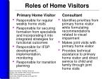 roles of home visitors